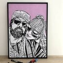 Personalised Hand Drawn 'Couple' Portrait