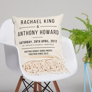 Personalised Anniversary Cushion - cushions