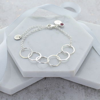 60th Birthday Personalised Infinity Link Bracelet