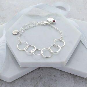 60th Birthday Personliased Infinity Link Bracelet