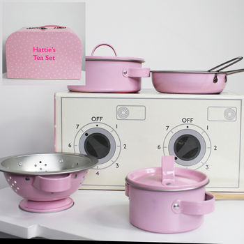 Personalised Childs Cooking Set And Case