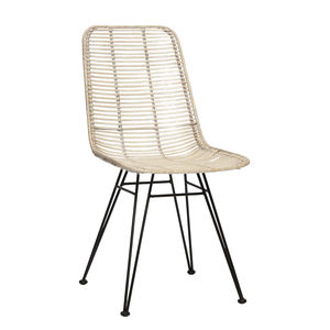 Wicker Chair In Whitewash