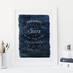 'Good Friends' Typography Print - posters & prints