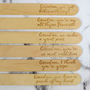 Personalised Funny Plant Marker Set For Grandma