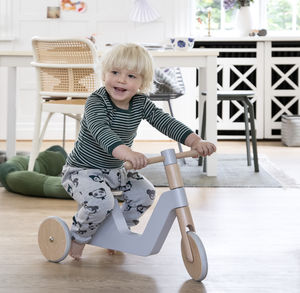 Grey Wooden Scooter - wooden toys
