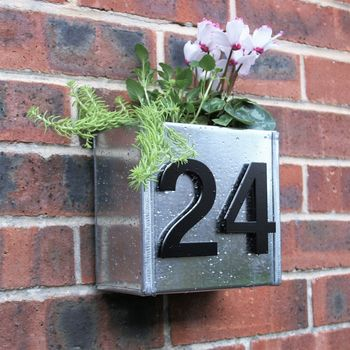 Urban House Number Planter