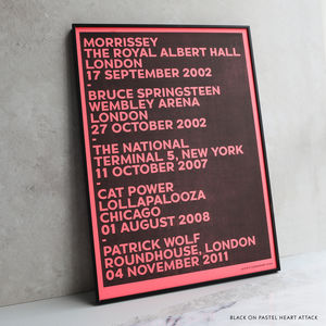 Personalised Favourite Gigs Stencil Print