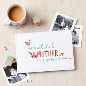 Personalised Floral Wording Photo Album