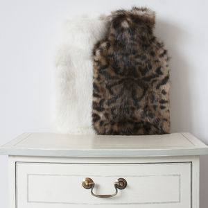 Luxury Faux Fur Large Hot Water Bottle Collection - hot water bottles & covers