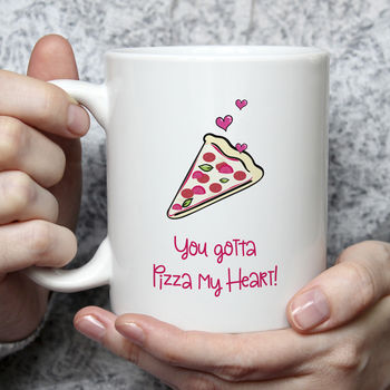 Pizza My Heart Valentine Mug