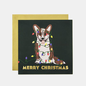 Merry Christmas Corgi Greeting Card - cards