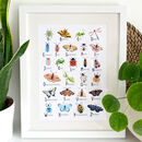 Insect Alphabet Art Print
