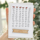 Personalised Anniversary Heart Card