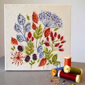 Handpainted And Sewn Hedgerow Canvas - canvas prints & art