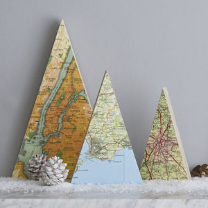 Personalised Map Tree Christmas Decoration - christmas decorations