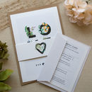 Botanic Wedding Invitation Complete with Belly Band