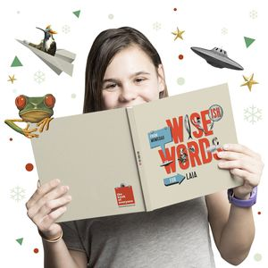 Wise Ish Words A Personalised Kids Book Collage Theme