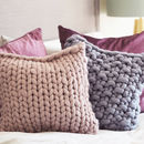 Classic Chunky Knitted Panel Cushion