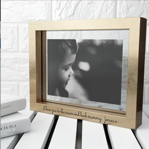 Personalised Gold Metallic Photo Frame - picture frames