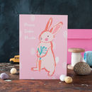 Personalised Girls Easter Bunny Card
