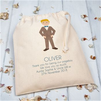 Personalised Pageboy Thank You Bags For Weddings