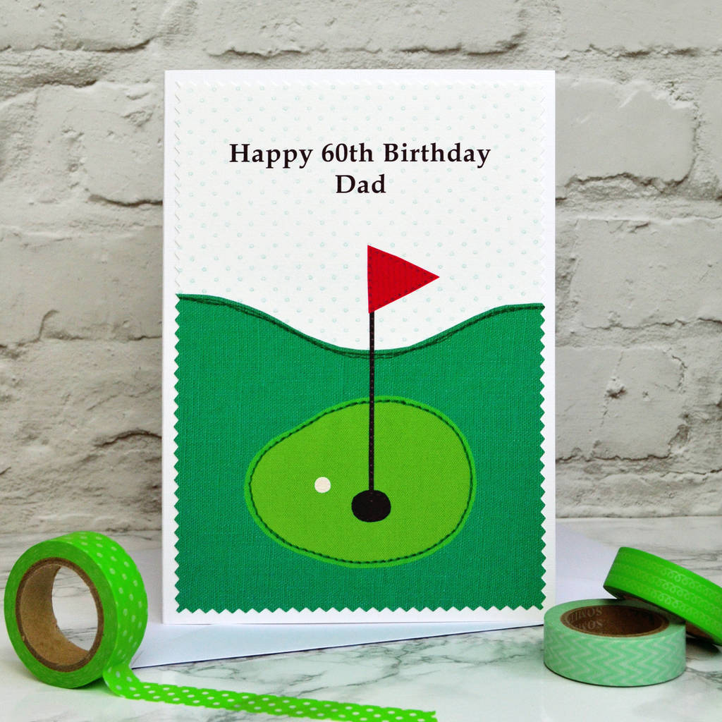 golf personalised birthday card by jenny arnott cards gifts – Birthday Cards Golf