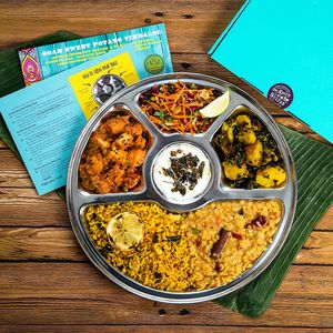 Six Month Veggie Thali Subscription With Four Plates - dietary food and drink