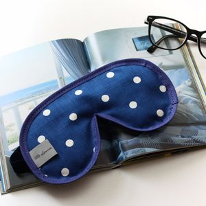 Men's Navy Spot Sleep Mask - eye masks & neck pillows