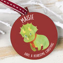 Personalised Baby Dinosaur Bauble
