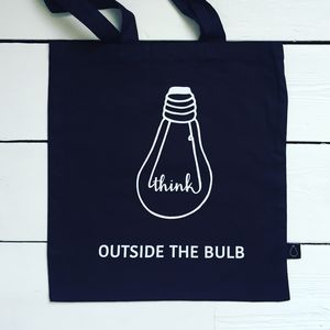 'Think Outside The Bulb' Tote Bag