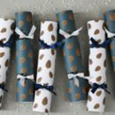 Six Luxury Pinecone Christmas Crackers