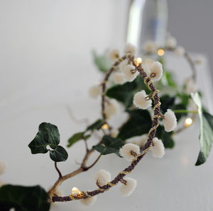 White Pom Pom Fairy Lights - fairy lights & string lights