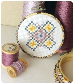 Cross Stitch Gift Set, Geometric Wall Hanging Kit