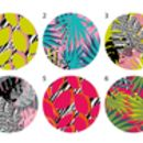 Colourful Tropical Patterned Wall Coat Hooks