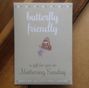Watercolour Mothers Day Butterfly Friendly Flower Seeds