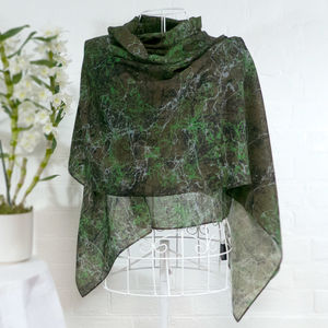 'Military Jackson' Large Luxury Scarf Wrap - pashminas & wraps