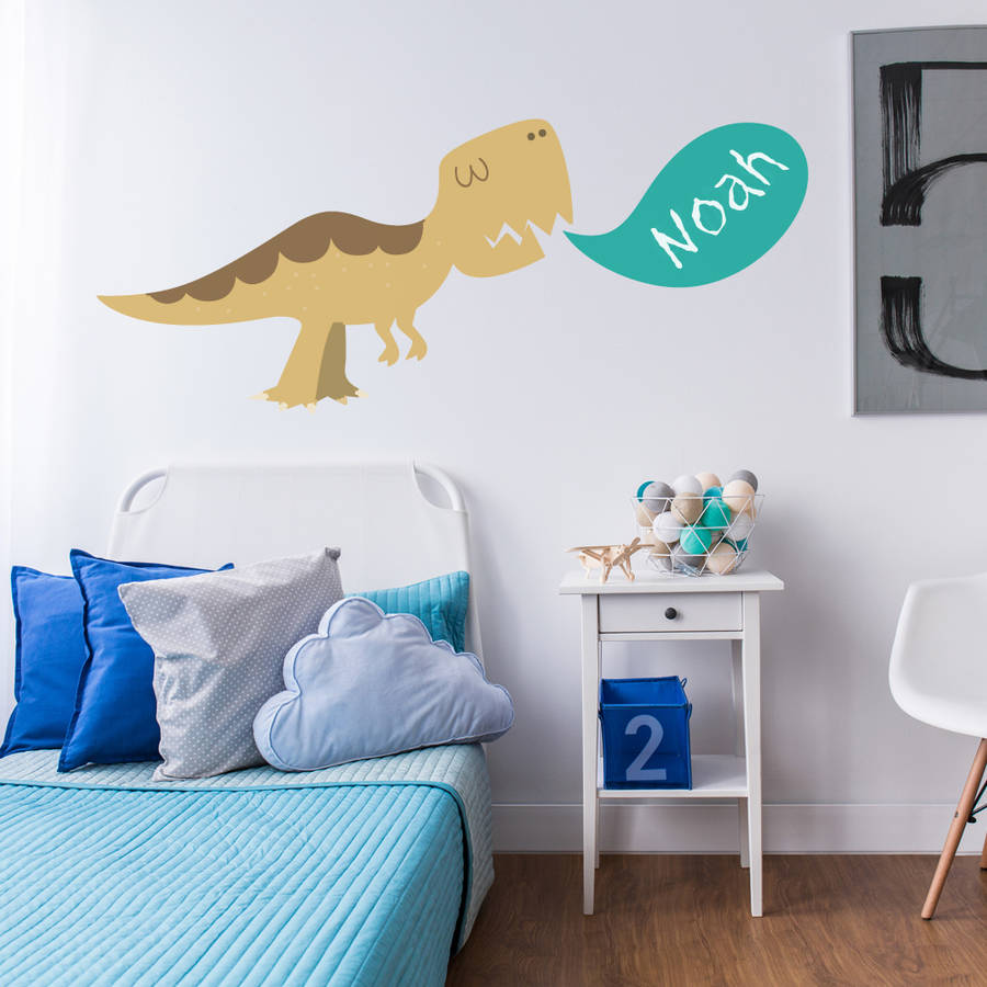 personalised dinosaur childrens wall stickers by parkins personalised teddy bear nursery wall sticker children s