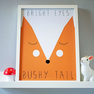 Fox Nursery Print - pictures & prints for children