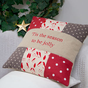 Penguin Christmas Cushion - patterned cushions