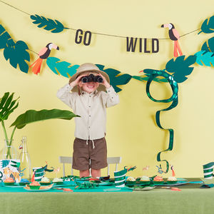 Go Wild Party Garland - childrens birthday