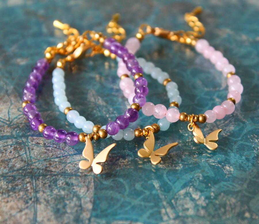 Children's Butterfly Charm Bracelet