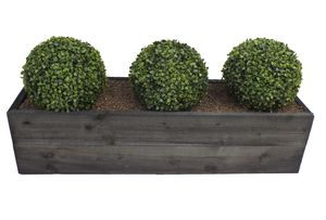 Artificial Boxwood Topiary Ball Trough