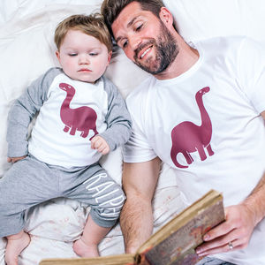 Personalised Dinosaur Family Pyjamas - men's fashion