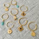 18ct Gold Vermeil / Choice of Five Charms / Two Different Sizes of Hoop 15mm or 20mm / Plain or Twisted