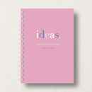 Personalised Job Or Home Planner Or Notebook