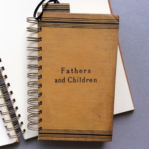 'Fathers And Children' Upcycled Notebook