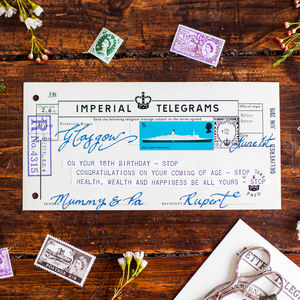 18th Birthday Keepsake Telegram