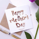 Happy Mother's Day | Personalised Foiled Card