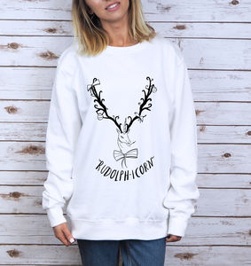 Christmas Rudolphicorn Sweater - women's fashion