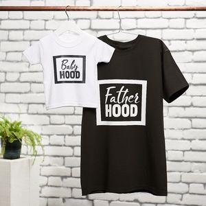 Fatherhood, Babyhood T Shirt Set